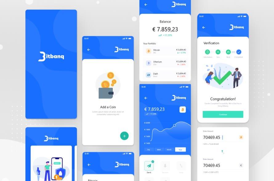 Blue Crypto Wallet App Free