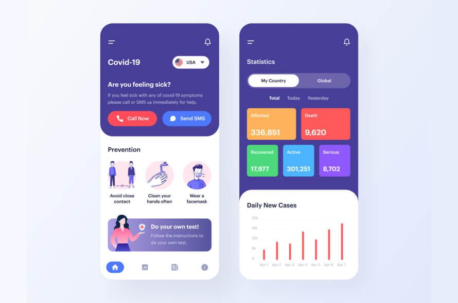 COVID-19 App Design Free