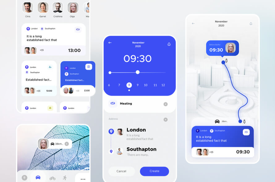 Calendar Appointment UI Kit Free