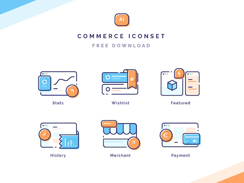 Commerce Icon Illustrations Free