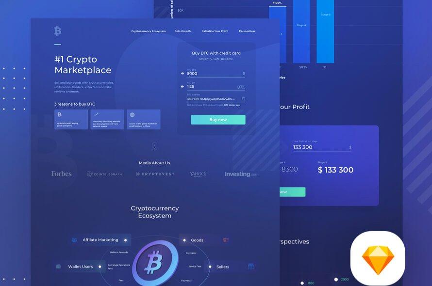 Crypto Landing Page Free