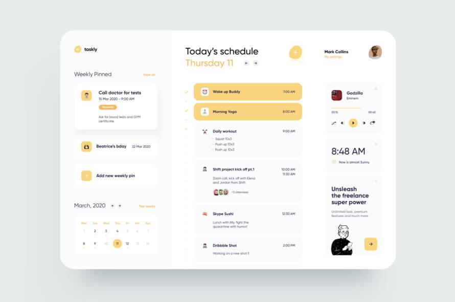 Freelancer Schedule Dashboard Free