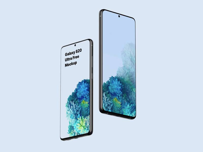 Samsung Galaxy S20 Mockup Free