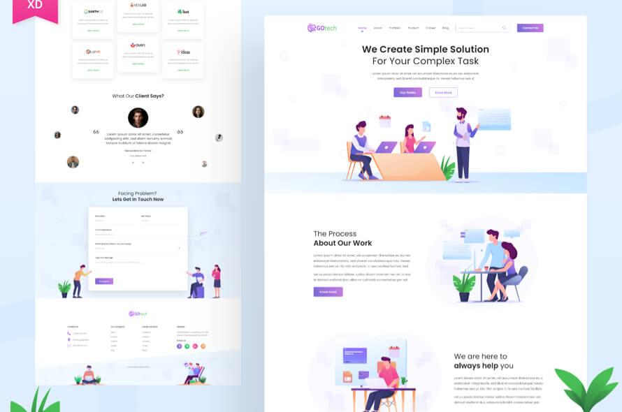 Gotech Startup Web Free