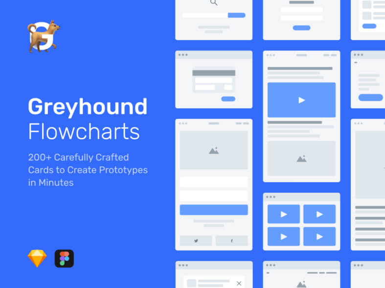 Greyhound Flowcharts- uifreebies.net