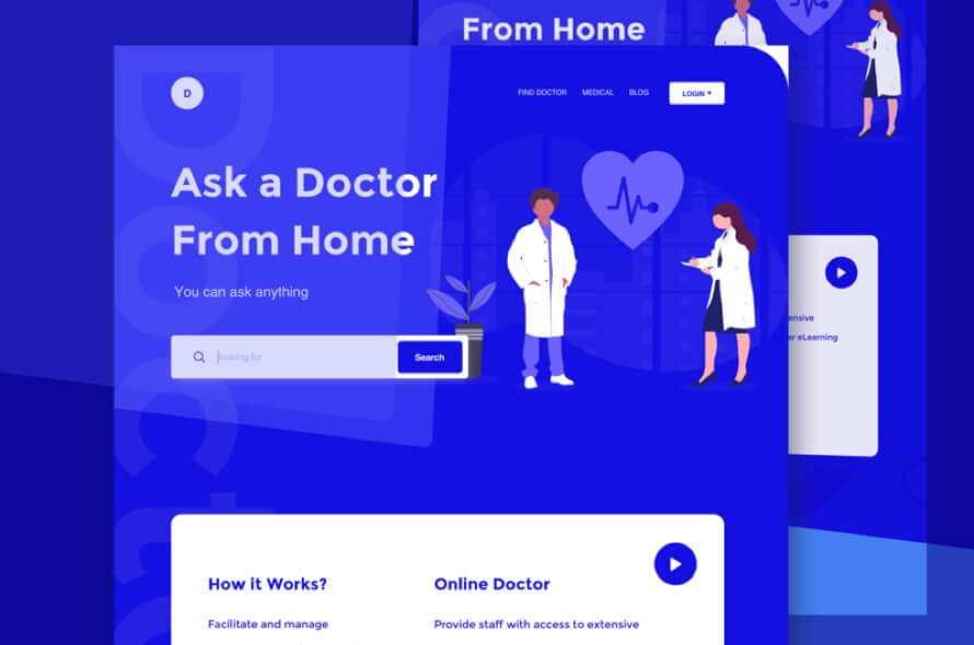 Medical Health Landing Page Free