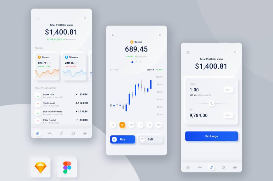 Neumorphism Wallet App Free