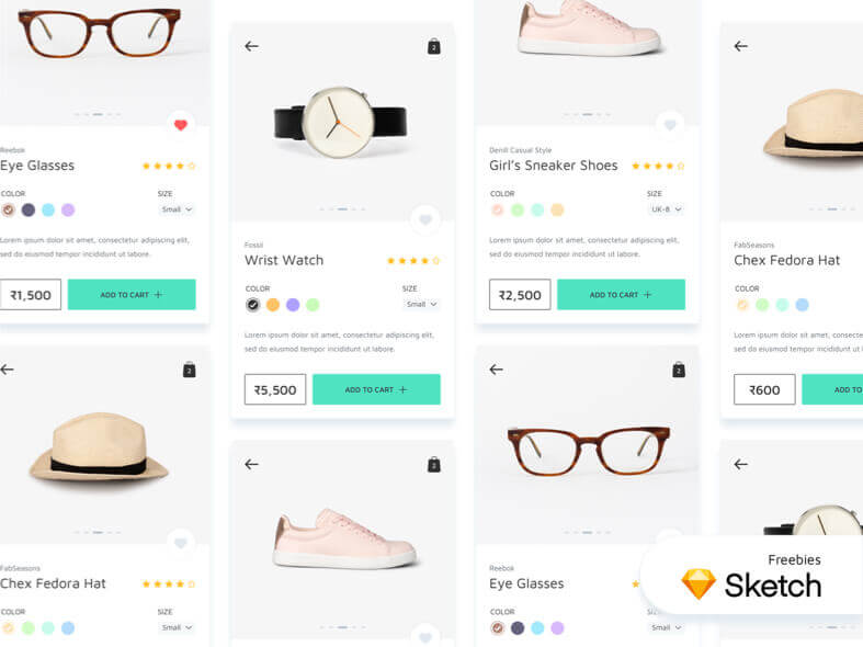Ecommerce App Free for Sketchapp