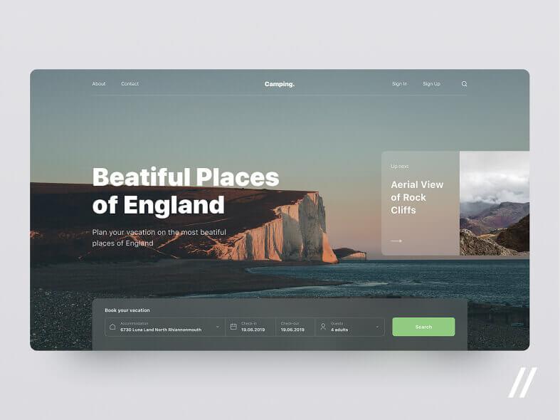 Travel Website Concept- uifreebies.net