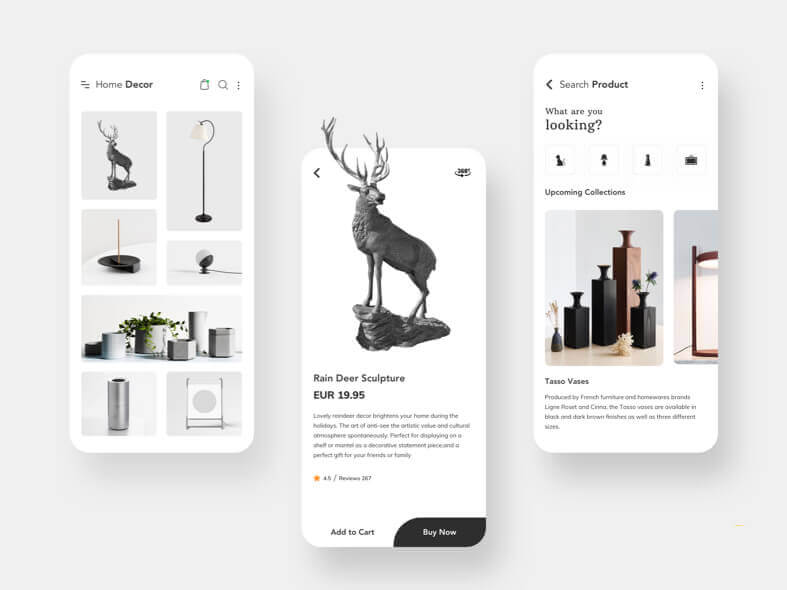 Home Decor App Design - uifreebies.net