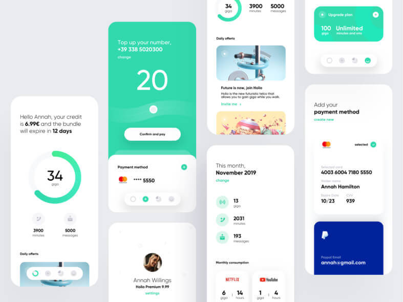 Holio App UI Kit Free