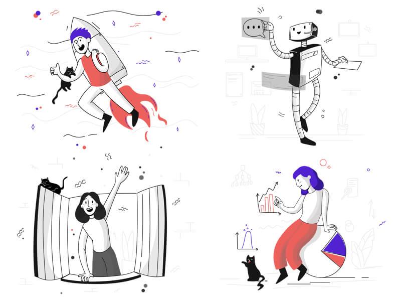 Pixeltrue Illustrations Free