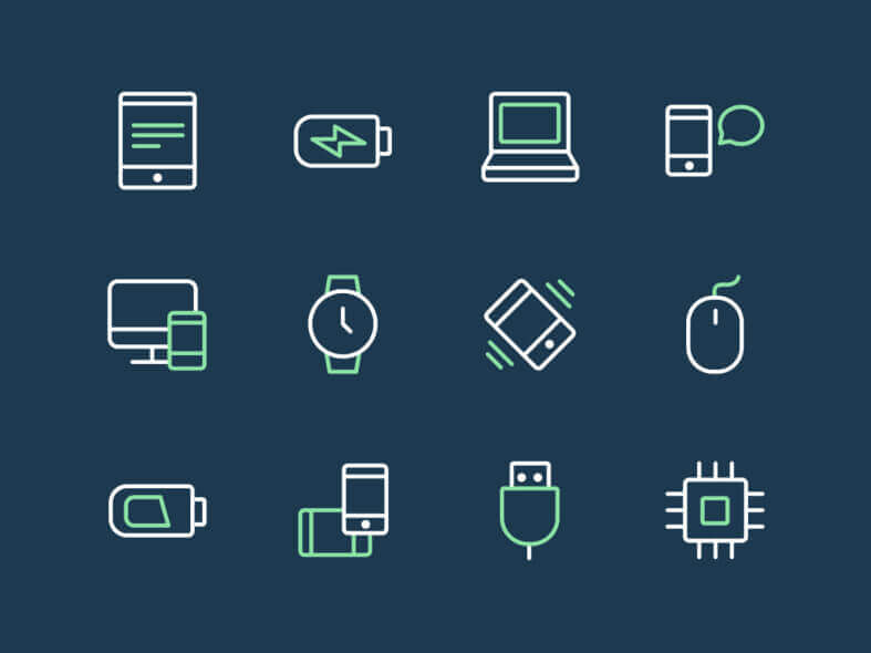 24 Tech & Device Icons Free