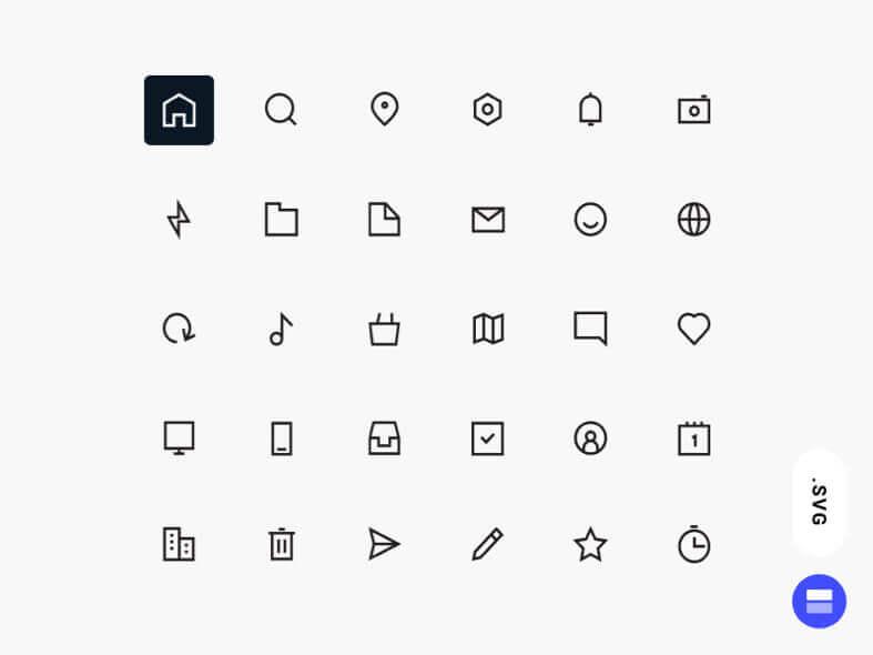 Workfy Icons Set- uifreebies.net