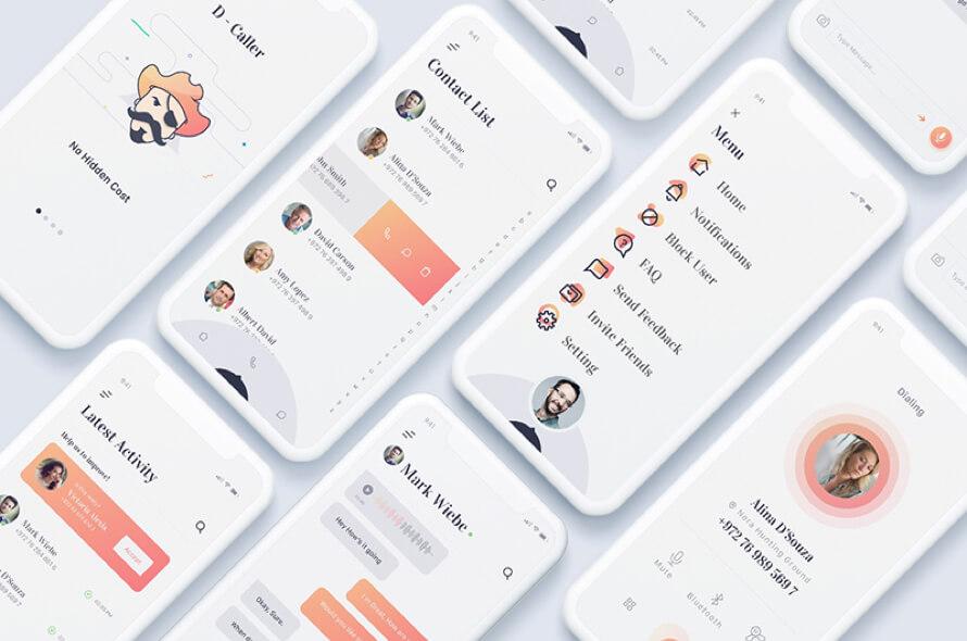 Daller Mobile UI Kit Free
