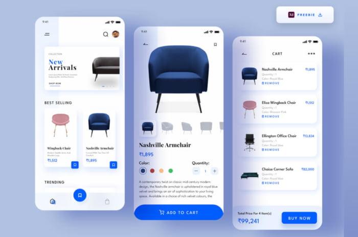 Furniture Ecommerce App Free