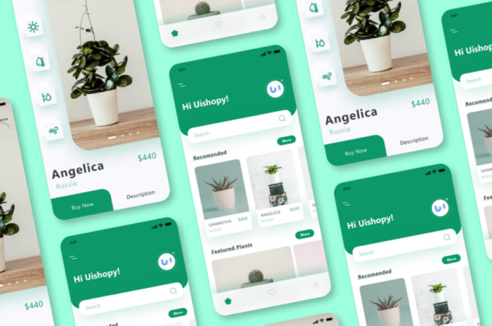 Plant Shop UI Kit App Free