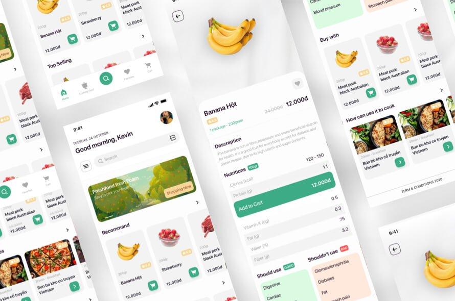 Grocery App UI Kit Free