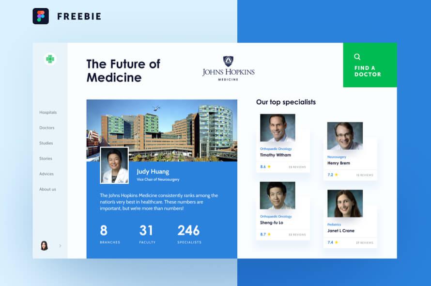 Medfinder Web Concept Free