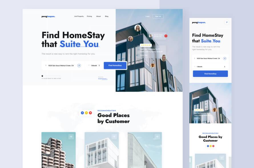 Napan Homestay Web Design Free