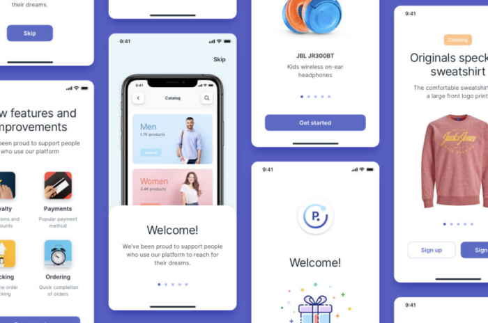 Walkthrough Runstore UI Kit Free