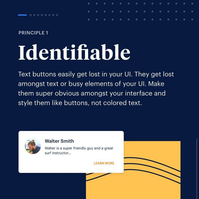8 Principles to Text Buttons  01 - UI Freebies