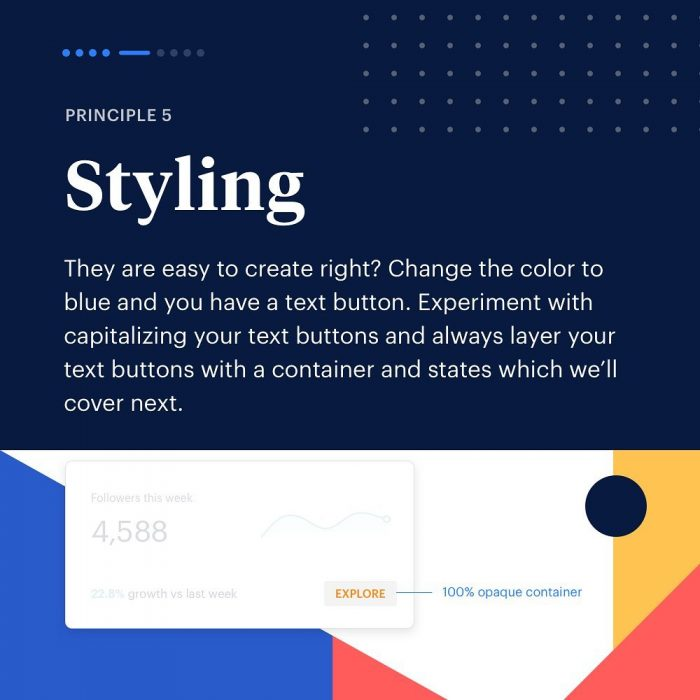 8 Principles to Text Buttons ⁣ 05 - UI Freebies