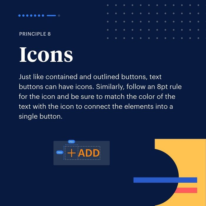 8 Principles to Text Buttons ⁣ 08 - UI Freebies