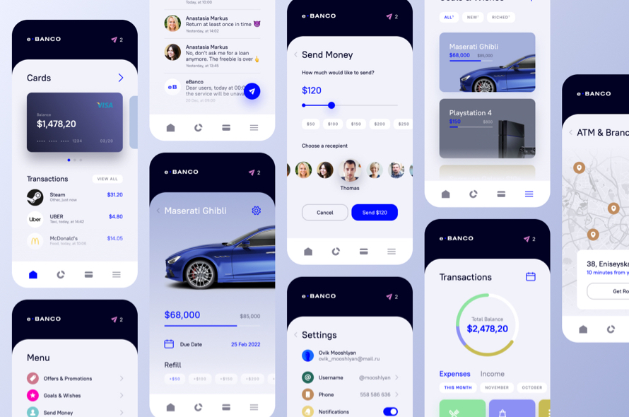 Banco Banking UI Kit Free