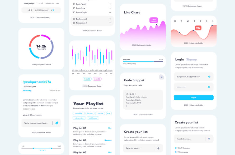 UI Elements for XD Free