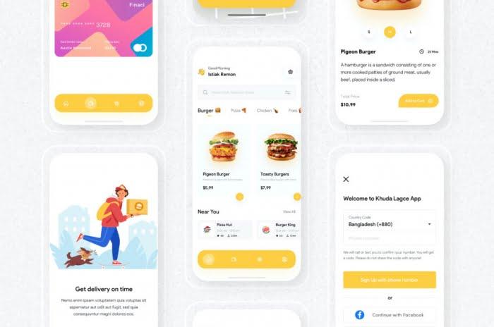 Food Delivery App UI Kit Free