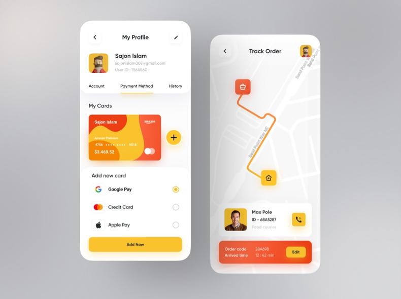 Food Tracking App UI Kit Free