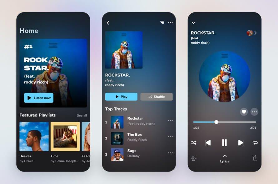 Spark Music UI Kit Free