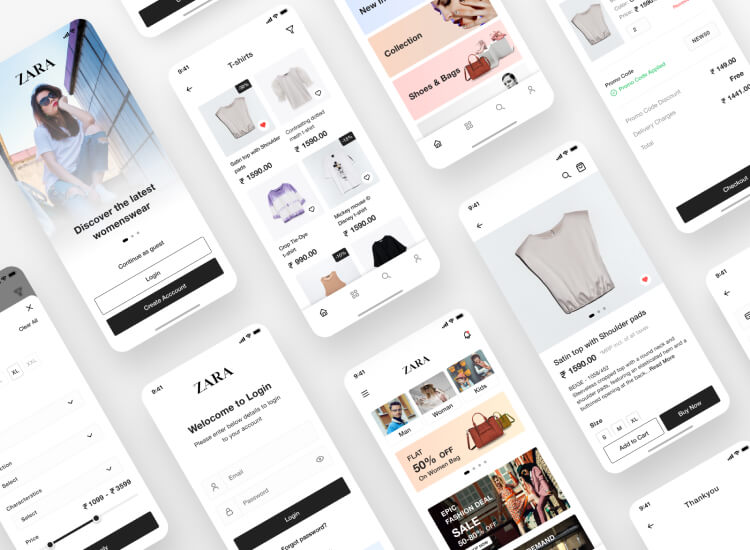 Zara App Redesign Free Download