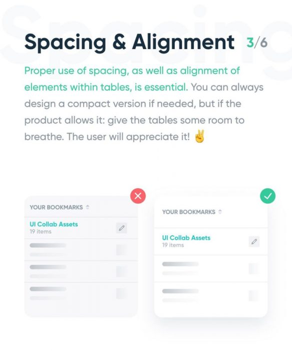 tips design with content tables 03 - UI Freebies