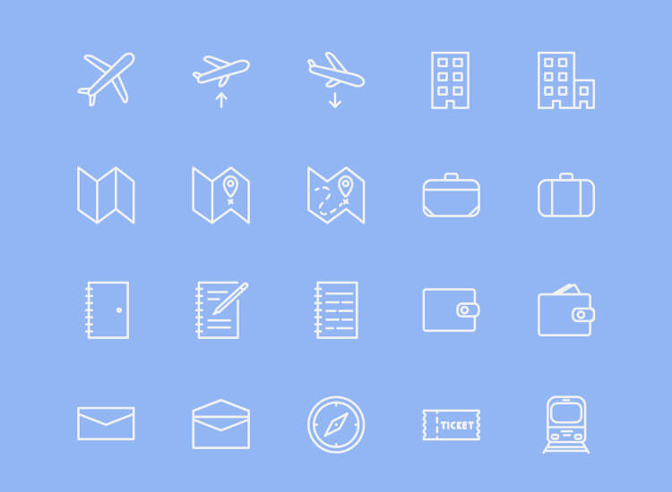 40 Free Travel Icons