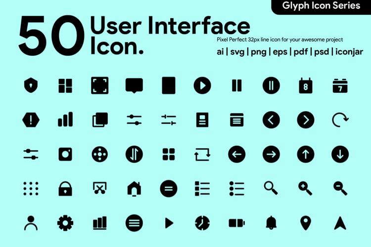 50 User Interface Icon Free