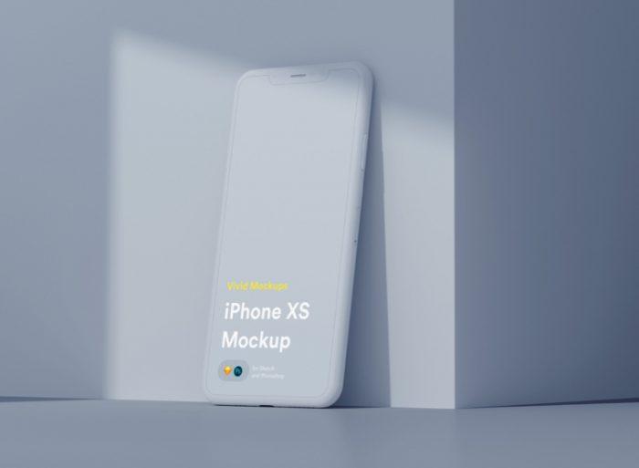 Free Vivid iPhone X Mockup