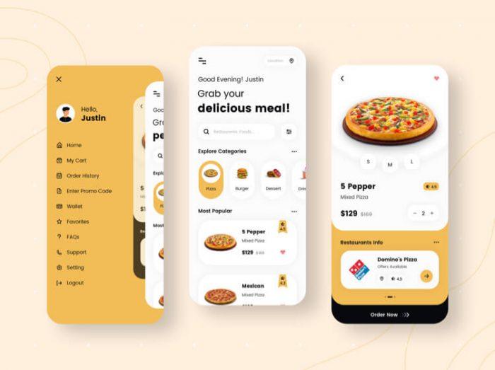 Organic Food App UI Kit Free