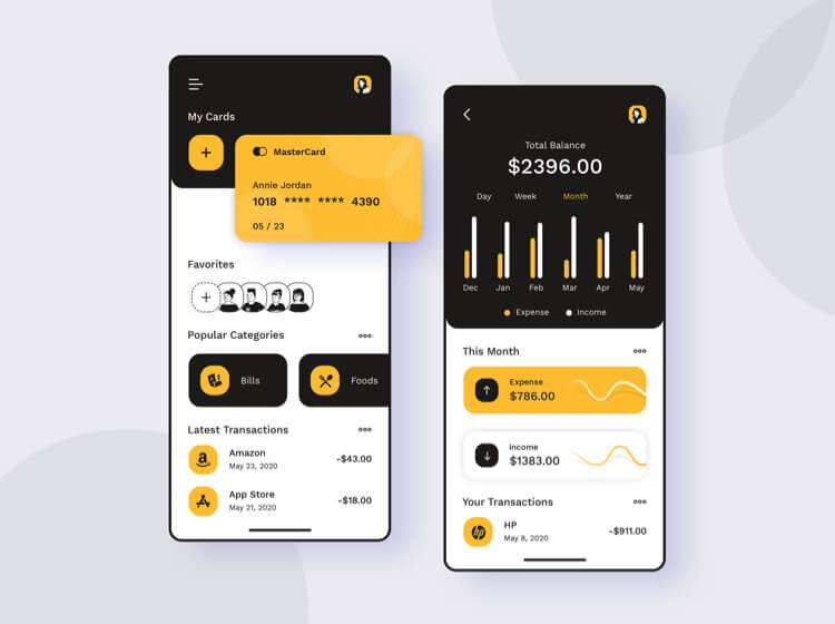 Finance Free PSD UI Kit