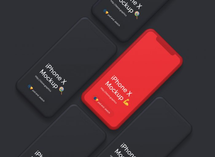 Simple iPhone X Mockups Free