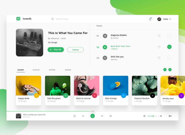 Spotify UI Kit Redesign Free