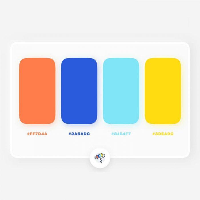 color palettes 30 - UI Freebies