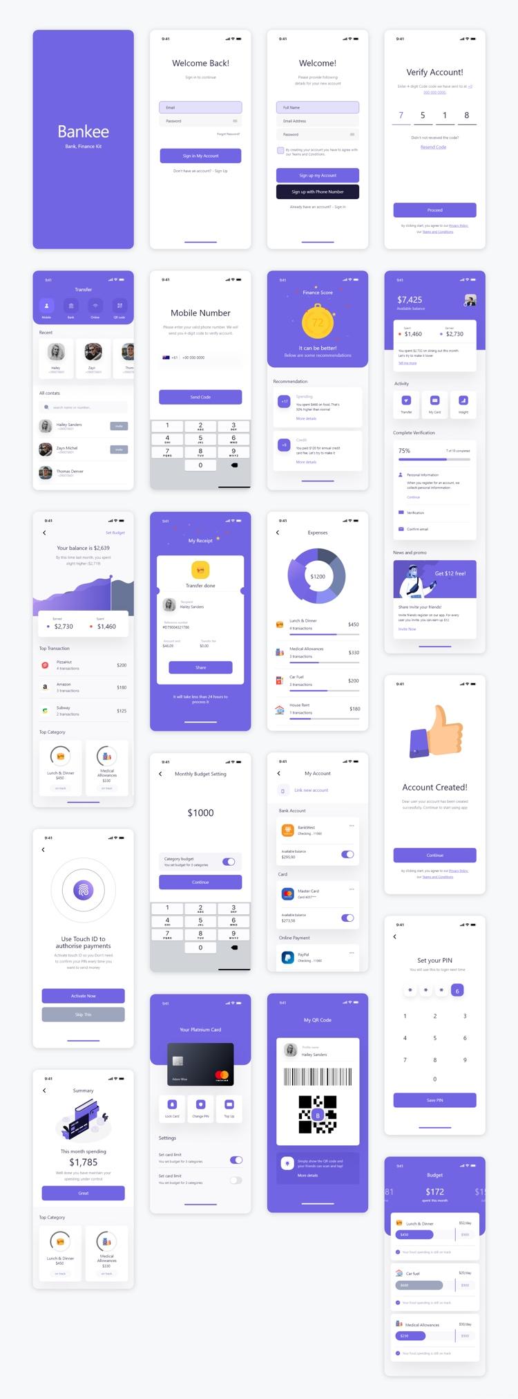 Bankee Finance UI Kit Free 4 - UI Freebies