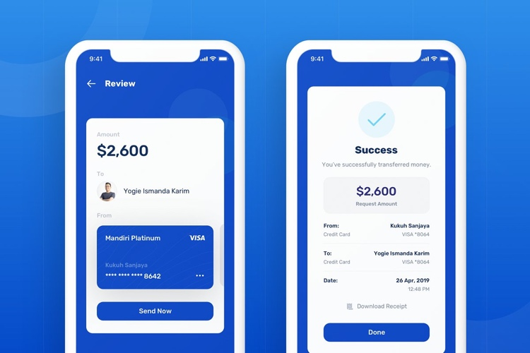 Banky Finance App UI Kit 4 - UI Freebies