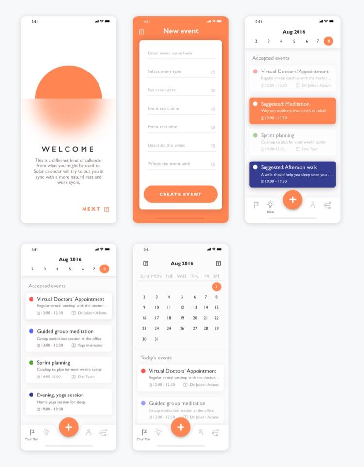 Calendar App UI Kit Free 2 - UI Freebies