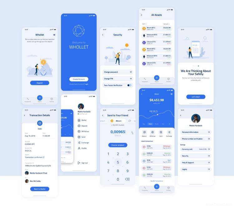 Wallet App UI Kit Free - UI Freebies