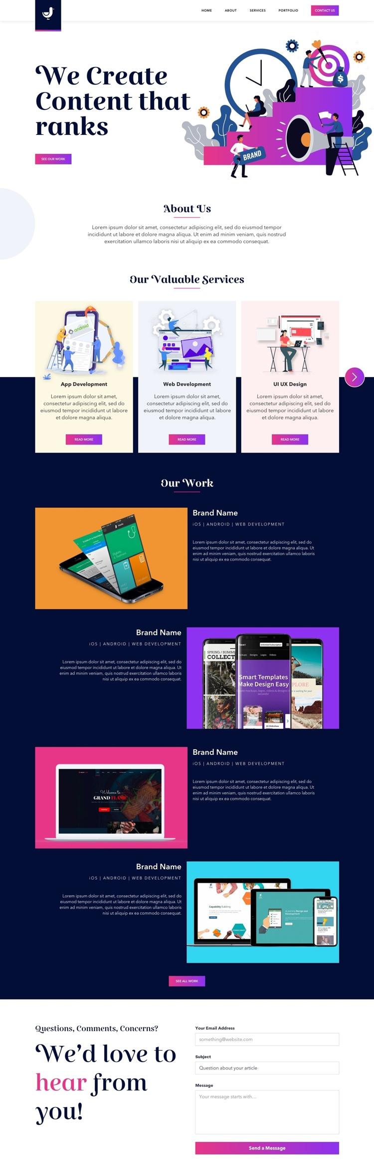 Digital Marketing Web Free 2 - UI Freebies