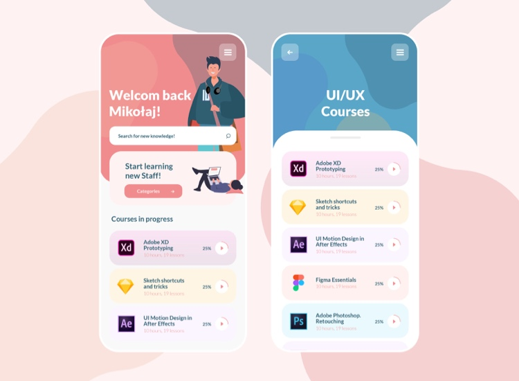 E Learning App UI Kit Free 4 - UI Freebies