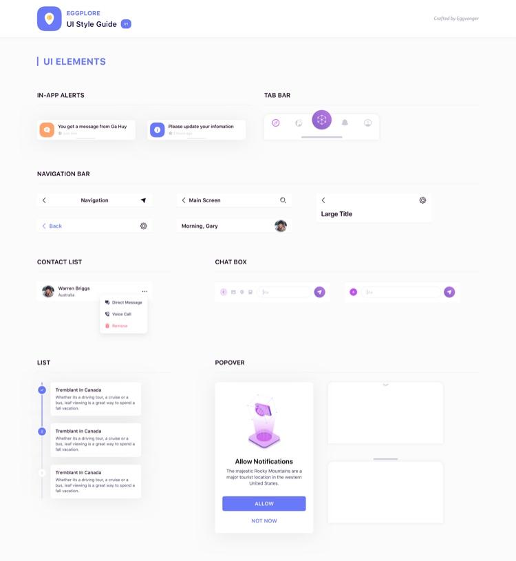 Eggplore UI Style Guide Free 3 - UI Freebies